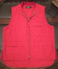 Ralph Lauren Double RRL Gent's Vest Polo Red Size Medium Brand New
