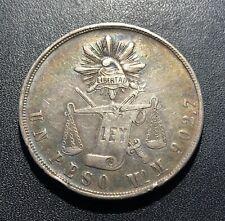 Mexico 1871 MoM Peso Silver Coin