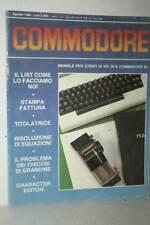 RIVISTA COMMODORE NUMERO 2 ANNO 1 AGOSTO 1984 USATA EDIZIONE ITALIANA FR1 54736