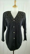 VTG BINGO! BINGO! Genuine Quality American Style Black Denim Jean Shirt Sz 6