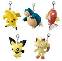 Set 5 pcs Bandai Pokemon Sun & Moon Linked Mascot 4 Lobster Clasp Figure