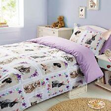 pet love pets rabbit cat dog (pug?) Duvet  King Size set summer BNWT