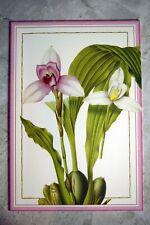 Caspari Thank You Card Greeting Card Floral Motif--Printed in Switzerland