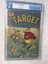 Target Comics Vol. 3 Issue #11 Jan 1943, Novelty Press PGX 5.0 off-white pages