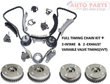 COMPLETE KIT TIMING CHAIN+ 4VVT CAM PHASER INT& EXH for 3.0 3.6L EQUINOX CTS SRX