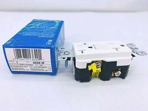 New Leviton 8898-W Commercial Grade GFCI Outlet White Color