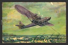 CPA AVIATION LATECOERE CGEA CGA AIR FRANCE New year postcard NOUVEL AN 1937