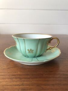 Vintage Verbano Italian Porcelain Demitasse Coffee Cup And Saucer Made In Italy