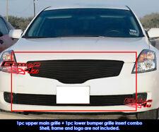 Fits Nissan Altima Sedan Black Billet Grill Combo 2007-2009