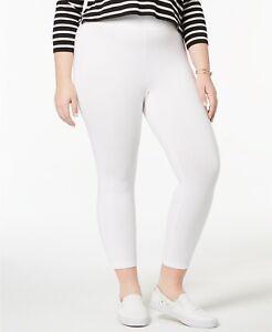 Hue U17453QH Plus Size White Solid Stretch Twill Leggings $42