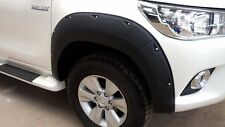 TOYOTA HILUX 2016 DOUBLE CAB 4X4 BLACK FENDER FLARES WHEEL ARCH WITH NUTS V.2