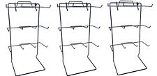 12 Single Peg Hook Counter Top Display Rack in Black - 3 Pc
