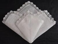 vintage wedding handkerchief SOMETHING OLD dainty crochet hanky HOLD HISTORY