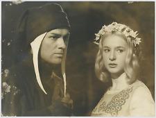 Giorgio Albertazzi e Loretta Goggi  Vintage silver print Tirage argentique