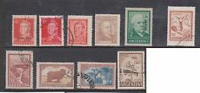 (U29-15) 1935-60s Argentina mix of 10 stamps valued to 2R