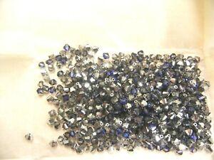 140 preciosa bicone crystal beads,5mm heliotrope