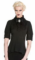 HELL BUNNY BLACK LACE GOTH top vampire gothic steampunk victorian emo XS 8 10 !!