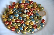 un lote 20 bolas de cerámica-cuentas irregular ceramica-DIY bisutería-colorido