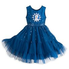 DISNEY STORE QUEEN ELSA ROYAL BLUE SNOWFLAKE WINTER PARTY DRESS 7/8 NWT FROZEN