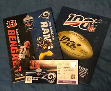 Cincinnati Bengals v Los Angeles Rams NFL Wembley Programme & Ticket 27/10/19