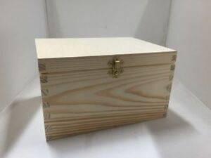 XL Pine wood box 24x18x14 RN122 storage jewellery chest case trinket memory