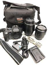 Olympus Camera Bundle E500, 14-45mm & 40-150mm Lens, Battery, Charger & Bag.