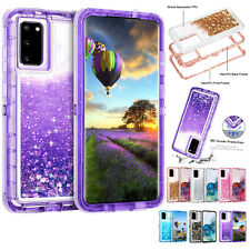 For Samsung Galaxy Note 20 S20 S10 S9 S8 Bling Glitter Defender Shockproof Case