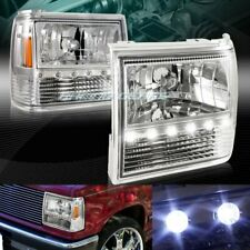 FOR FORD RANGER/EXPLORER CLEAR LENS LED 1-PIECE HEADLIGHTS+BUMPER+CORNER LAMPS