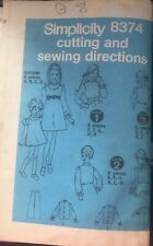 Vintage Simplicity pattern 8374 Girl's Jumper & Blouse size 8 breast 27 uncut