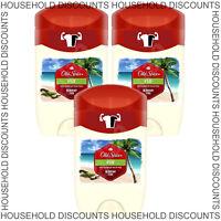 3 x Old Spice Fiji Deodorant Roll On Stick Mens Fresh Odour Smell Clean 50ml
