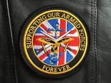 Embroidered Support our Armed Forces Patch Badge ,Military Biker Mod Harley
