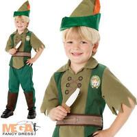 Peter Pan Boys Fancy Dress Book Week Dress Up Disney Costume Kids Ages 3-8 Years