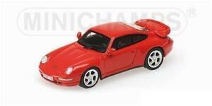 Minichamps 877069202 Porsche 911 Turbo 1995 Rojo Ho 1:87 Nuevo