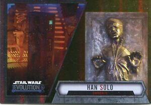 Star Wars Evolution 2016 Gold Parallel Card #43 Han Solo