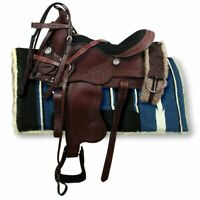 Premium Leather Beautiful Western Barrel Racing Horse Saddle Tack Size 14 to 18