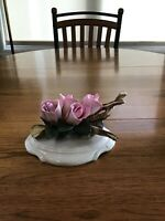 Vintage Napoleon Capodimonte Fine Porcelain Roses Made In Italy