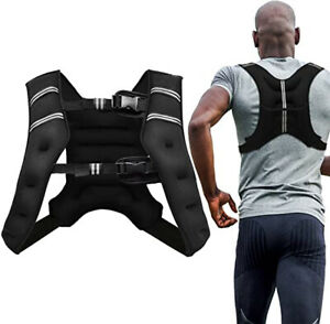5kg or 10kg Weighted Vest Jacket Running Exercise Fitness Resistance Training