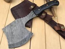 HUNTEX CustomHandmade Damascus Steel 10.6 Inch Long Kitchen Clever Camping Knife