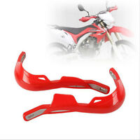 "Motorcycle Dirt Bike MX Motocross Hand Guards Handguards Alloy Insert 7/8"" RED"