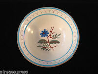 "Stangl Pottery Hand Painted BLUE DAISY - 5-1/2"" x 1"" Deep BERRY / FRUIT BOWL"