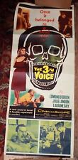 The 3rd Voice Original Movie Poster insert 1960  Skull art voice from grave