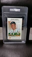 Mickey Mantle Signed Autographed Card 4x6  W COA PSA DNA CERTIFIED