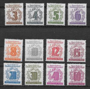 GERMANY , SOVIET ZONE , W. SAXONY , 1946 , SET OF 12 STAMPS , PERF , VLH