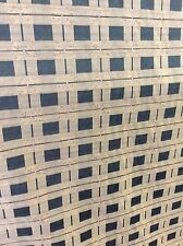 10m Green Gold Check Jacquard Fabric Curtains FREE POSTAGE