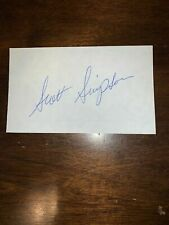 SCOTT SIMPSON - GOLFER - AUTOGRAPH SIGNED - INDEX CARD -AUTHENTIC - C74