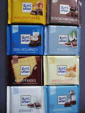 8 x Ritter Sport -Assortment of 8 flavor- chocolate bars of 100 gr/ 3.5 oz net