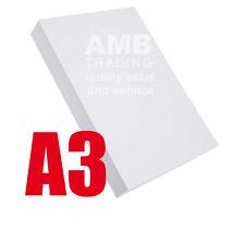 50x A3 HIGH QUALITY WHITE PRINTER/COPIER PAPER 80gsm GRAPHICS/ART/DRAWING/PRINT/