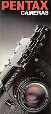 1980s PENTAX  CAMERA BROCHURE -ILX-ME F-ME SUPER-MG-MX-K1000-AUTO 110-6x7-PENTAX