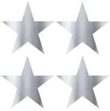 Silver Star Stickers metallic silver foil star labels 45mm STARS  Packet of 100!