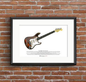 Rory Gallagher's Fender Stratocaster ART POSTER A3 size